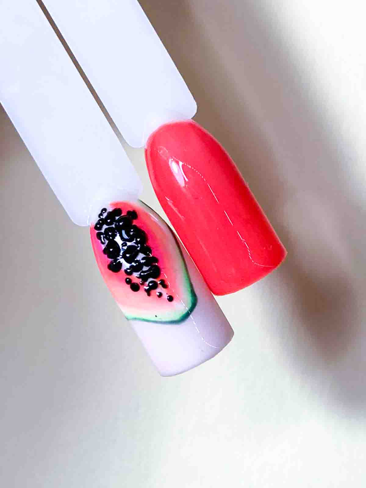 tutorial Papaya Nail Art